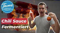 Chilisauce selber machen, mit nur 3 Zutaten! Ohne E's und Konservierungsstoffe trotzdem haltbar. - YouTube Chutney, Chili Sauce, Salsa, Dips, Dressing, Youtube, Movie Posters, Vegan, Asian Cuisine