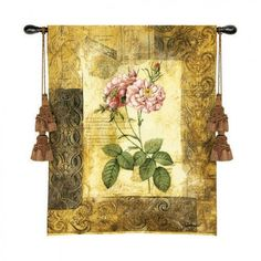 Fine Art Tapestries Blossoming Elegance II Tapestry - Chad Barrett - - All Wall Art - Wall Art & Coverings - Decor Chad Barrett, Woven Wall Hanging, Art Object, Home Wall Art, Rugs On Carpet, Carpets, Home Decor Items, Wall Tapestry, Decorative Accessories