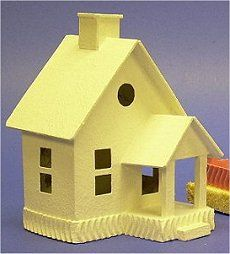 Build a cardboard house Christmas Village Houses, Putz Houses, Christmas Villages, Fairy Houses, Christmas Home, Christmas Crafts, Cottage Christmas, Christmas Glitter, Xmas