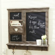 Chalk Board Organizer with Heart Cutout