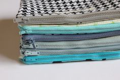 easiest zippered pouch tutorial I've seen yet! must make a 100 of these for the random crap in my purse!