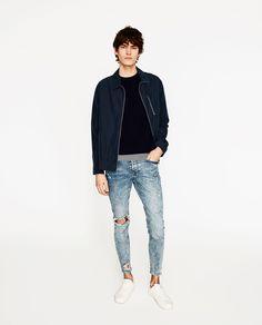 Imagen 1 de DENIM SKINNY RAW EDGE de Zara