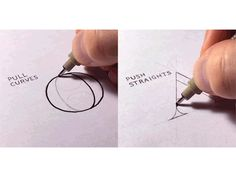"marinashutup:  "" fanartyfartystuff:  "" miss-coverly:  "" typeandlettering:  "" Quick Tip to Draw Straight Lines & Avoid Shaky Hand Lettering by Sean McCabe  ""  (reblog to save an artist  ""  I've been doing it wrong the whole time… THIS IS LFE..."