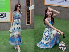 Pretty Gartered Maxi Dress - ShopThisEasy.com