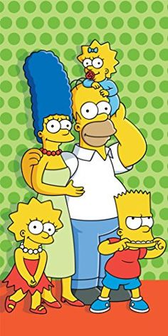The Simpsons Family Green Dots Printed Towel Simpsons Drawings, Cartoon Drawings, Cartoon Art, Cartoon Characters, Simpson Wallpaper Iphone, Funny Iphone Wallpaper, Cartoon Wallpaper, Simpsons Party, The Simpsons