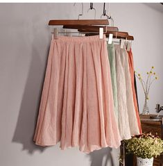 Cheap pleated midi skirt, Buy Quality elastic waist skirt directly from China midi skirt Suppliers: New Fashion 2017 Womens Vintage 11 Color Linen High-Waist Pleated Midi Skirts Elegant Ladies Slim Elastic Waist Skirt Saias Midi Skirt Casual, Pink Midi Skirt, Casual Skirt Outfits, Casual Skirts, Pleated Skirt, Midi Skirts, Women's Casual, Elastic Waist Skirt, Cheap Skirts