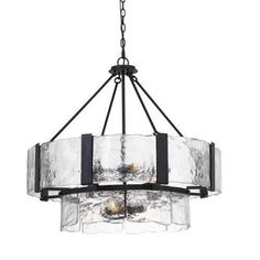 """The Cal Lighting Siena - Nine Light Chandelier is 26"""" Height Iron Chandelier in Black Smith Finish Durable Iron Construction Ships in One Carton. Includes 6 Foot Chain Uses Nine Candelabra Base 40 Watt Max. Bulbs Hand Crafted Glass Pieces. Visit 1STOPLighting.com to purchase now! #lighting #1stoplighting Iron Chandeliers, Chandelier Ceiling Lights, Chandelier Lighting, Bathroom Lighting, Transitional Chandeliers, Contemporary Chandelier, Modern Farmhouse Lighting, Modern Lighting, Lighting Design"""