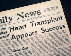 On this day (Dec 03, 1967), the First human heart transplant took place at Groote Schuur Hospital  #heart #history Christiaan Barnard, Human Heart, First Humans, South Africa, Memories, How To Plan, Inspiration, Memoirs, Biblical Inspiration