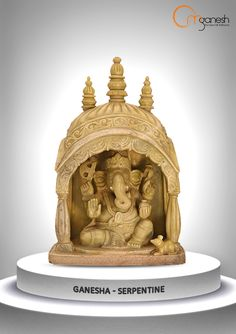 Hand-crafted from a single stone, this pristine idol takes the form of our beloved Lord Ganesha.