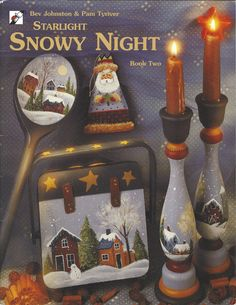 Starlight Snowy Night Book Two by Bev Johnston & Pam Tyriver Tole Painting Book FI187 by PhotographyByRoger on Etsy