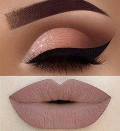 Eye makeup and lipstick #EyeMakeup #Makeup #Lipstick