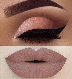 Eye makeup and lipstick #EyeMakeup #Makeup #Lipstick