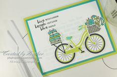 Playing with Papercrafting: July's Free Tutorial Features Bike ...
