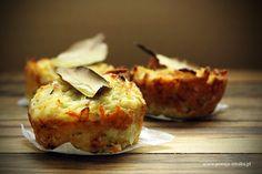 Muffinki ziemniaczane Baked Potato, Potatoes, Baking, Breakfast, Ethnic Recipes, Food, Morning Coffee, Potato, Bakken