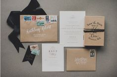 Creative black and white themed #invitation. I love how they pair the black ribbon and unique card stock. http://www.weddingshoesblog.com/romantic-black-and-white-wedding-affair/ #wedding