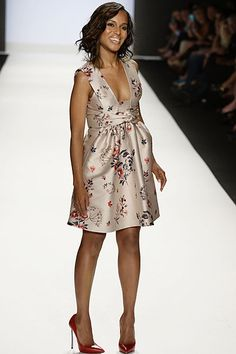 Runway Ready: Kerry Washington walked the runway for the Project Runway fashion show in NYC on Friday.