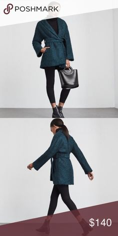 NWT Reformation Maxwell Coat Brand new with tags Maxwell coat by eco-friendly brand Reformation. Oversized robe style coal in a fuzzy teal material. Fully lined. Perfect for fall layering! Size L. Reformation Jackets & Coats