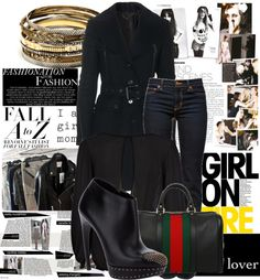 """""""Fall - Chic in Black"""" by rehabib on Polyvore"""