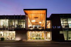 WHK Building, Invercargill (New Zealand) by Parker Warburton Team Architects Ltd  Installer: Camder Stewart L, Copyright : VMZINC   #NewZealand #Architecture #Zinc #VMZINC #Facade #AnthraZinc #Office