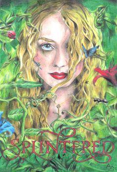 Dibujo de la portada del libro Splintered, de A. G. Howard #Splintered #Alyssa #Morpheus #Jeb