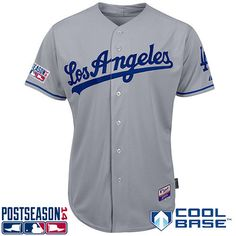 be3391980 Los Angeles Dodgers Authentic Road Cool Base Jersey w/2014 Postseason Patch  - MLB.