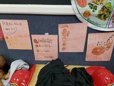 Menus created by children.