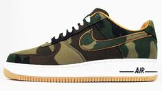 army color camo nike air force ones