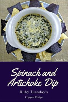 Spinach and Artichoke Dip Ruby Tuesday's Copycat Recipe main  Making this right now!! :)