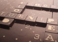 Limited Edition Scrabble Typography set- I want, I want!