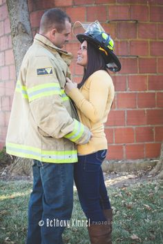 & {Engagement Session, E-Session, Couples, Love, Firefighter} Fire Photography, Couple Photography, Engagement Photography, Bridal Photography, Firefighter Workout, Firefighter Family, Volunteer Firefighter, Fireman Wedding, Firefighter Wedding