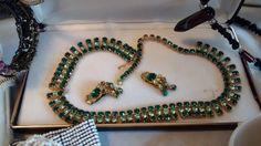 Vintage  Choker-style Crystal Necklace & Earring by nelsnicnacs