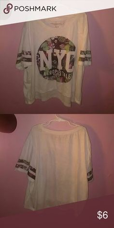 Aéropostale shirt From Aéropostale, gently used;minor fading, size:XL Aeropostale Tops Crop Tops