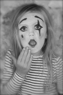 Mime - use makeup for easy kids costumes!