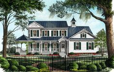 Country Farmhouse Victorian House Plan 86246