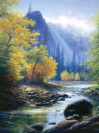 click here to view larger image of Below Bridal Veil Falls (counted cross stitch kit)