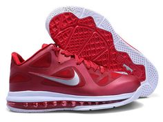 detailed look 750de 5b0c7 Lebron 9 Low Lebron James IX Team Red Burgundy Red Wolf Grey 469765 new  sample of Lebron 9 Low