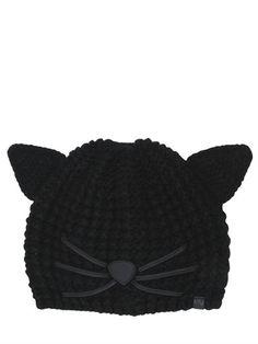 Karl Lagerfeld - choupette knit beanie hat