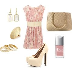 cute dress... no way i can wear those shoes though.. nice cream color sandals.