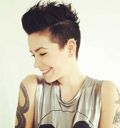 Pixie Cut Shaved Sides for Girls 2015