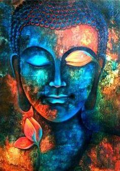 Original acrylic art painting on canvas buddha painting zen art meditation large Buddha Kunst, Art Buddha, Buddha Painting, Buddha Canvas, Buddha Head, Buddha Drawing, Buddha Buddhism, Buddha Quote, Painting Canvas