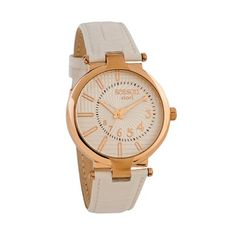 Gold Watch, White Leather, Watches, Accessories, Wristwatches, Clocks, Jewelry Accessories