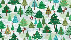 Christmas material - Christmas fabric - 100% Cotton fabric - Quilting fabric - Childrens fabric - Christmas tree fabric - dressmaking fabric