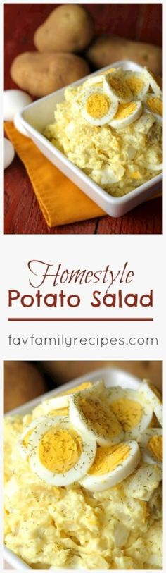 This Homestyle Potato Salad recipe is tried and true.  It comes straight from Mom's recipe box and has been polished off at every family gathering held from March to October.