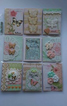Butterfly themed pocket letter, using DCWV Butterfly Garden Paper Pad Atc Cards, Card Tags, Journal Cards, Pocket Pal, Pocket Cards, Inchies, Art Trading Cards, Pocket Scrapbooking, Candy Cards