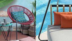 Sedute colorate dal design contemporaneo per una zona all'aperto vivace ed originale