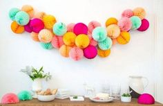 Honeycomb pom 5 inch ... Tissue paper decorations // by PomLove