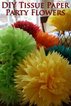 Tissue Paper Party Flowers | FrugElegance | www.frugelegance.com