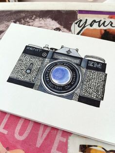 Vintage Camera illustration.