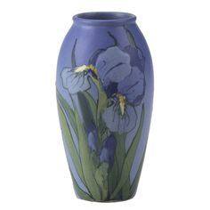 Incredible Vase Rago and Team   Is this Sarah Timberlake's work?   WELLER iris vase