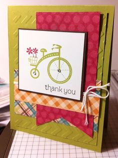 Moving Forward thank you card. All supplies Stampin' Up!